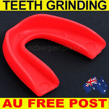 AU*Dental Mouth Guard Bruxism Splint Night Teeth Tooth Grinding Sleep Aid Red