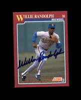 Willie Randolph Hand Signed 1991 Score Milwaukee Brewers Autograph