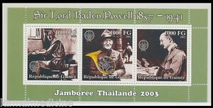 Guinea 2002 MNH SS, Baden Powell Boy Scouts, Olave, Music