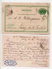 Suecia Entero Postal Circulado a Jerez de la Frontera año 1899 (CL-89)