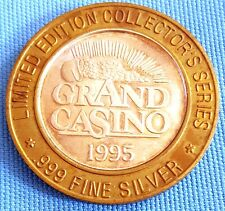Vintage 1995 Grand Casino Limited Edition Collectors Series Coin Token .999