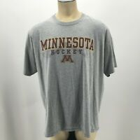 University of Minnesota Gophers Hockey Graphic T Shirt Short Sleeve Gray Men 2XL