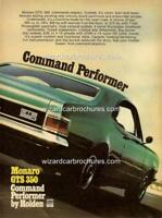 1970 HG HOLDEN MONARO GTS 350 LAKESIDE GREEN A5 DISPLAY CARD BIANTE 1:18 DIORAMA
