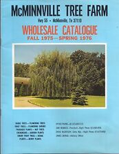 1976 McMINNVILLE TREE FARM Highway 55 TENNESSEE Wholesale Catalogue