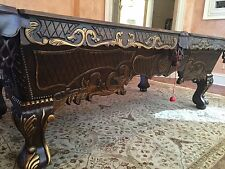 NEW 8' Victorian Billiards Pool Table Pro Traditional Carved Mahogany Game Table