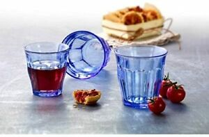 Duralex - 6 Picardie Colored Tumbler Blue Drinking Glasses, 8 3/4 oz. USA SELLER