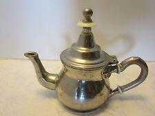 Silverplated Tooled Metal Tea Pot Theiere Moulay Hassan Dar El Berrad Vintage