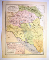 Antique Map Of Armenia Mesopotamia Babylonia Assyria  W & A K Johnston 1880