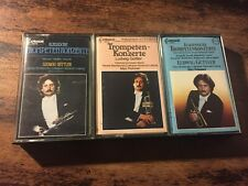Ludwig Guttler Trumpet lot of 3 cassettes Capriccio label
