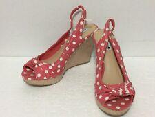 New American Eagle ~Cute Sexy Pink Polka Dots Peep Toe, Sling Back Shoes, Sz 8.5