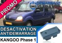 Clé de désactivation d'anti démarrage Renault KANGOO PHASE 1