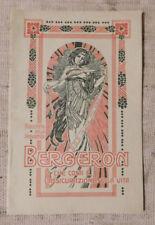 Bergeron Assicurazioni sulla vita  ORIGINALE Venezia anno 1911