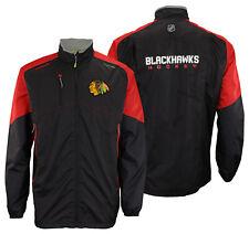 Reebok Chicago Blackhawks NHL Mens Center Ice Kinetic Fit Full Zip Jacket, Black