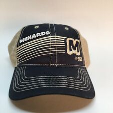Retro Menards Hat Cap Snapback Blue And  Tan Home Improvement Mesh Back
