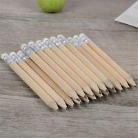 10pcs Wooden Pencils with Eraser HB Black Lead Standard Pencil Set Writing Tool