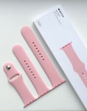 NEW GENUINE APPLE WATCH SPORT BAND 42/44mm  LIGHT PINK 2015 **RARE**