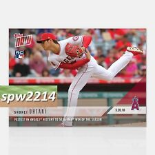 2018 Topps Now Shohei Ohtani RC #234 English - Fastest Angels History to 50 Ks