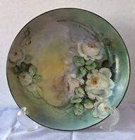 Lovely Antique Mavaleix Limoges Porcelain Plate, Hand-Painted,1908-1914, Scarce!