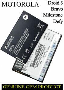 BATTERY MOTOROLA DEFY MB525 BRAVO MB520 MILESTONE 3 XT860 DROID 3 XT862 BF5X