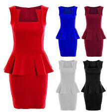 Polyester Mini Square Neck Sleeveless Dresses for Women
