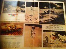 Eagle On The Moon Paul Hamlyn + 1971 Newspaper Clippings Apollo 11 12 15 Space