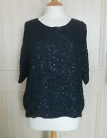 Pyrus/Anthropologie Silk Sequinned Top/Blouse - Size M