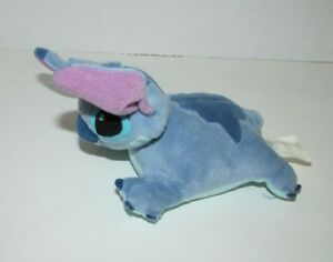 The Disney Store beanbag plush mega bean Stitch from Lilo & Stitch mini pillow