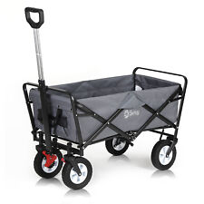 More details for wagon folding cart collapsible garden beach utility outdoor camping sports gray
