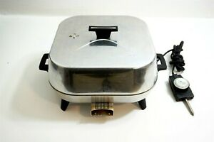 SUNBEAM VISTA Vintage Electric Skillet Aluminum Fry Pan Model VFP-AA VRC-7