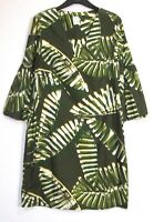 New Marks & Spencer Palm Print Cotton Tunic Dress - Uk Size 8 - 22