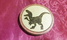 Dinosaur velociraptor wood refrigerator magnet home decoration dark wood inlay