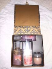 New Bath & Body Works Peony 4 Piece Gift Set w/Lovely Display Box Rare