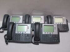 LOT of 5 CISCO 7942 CP-7942G IP Business VOIP Phone Telephone with Stand