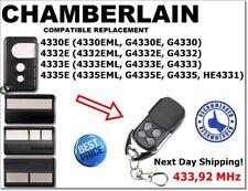Liftmaster Chamberlain 4330E 4333E 4335E Compatible Remote Control 433,92MHz