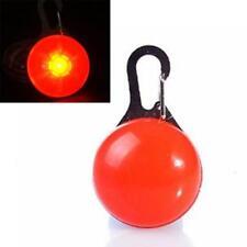 LED Pet Dog Cat Collar Nite Night Light Safety Clip Flashing Neon Pendant CA