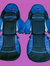 Corvette C5 Syntheic Leather Sports Seat Covers (Blue & Black)