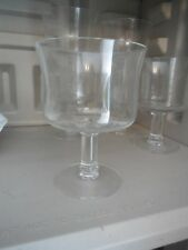 10 WILLIAMS SONOMA CLEAR GLASS FOOTED DESERT CUPS BOWLS NEW