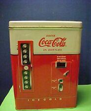 Vintage Coca Cola Vending Machine   Hinged Metal Tin