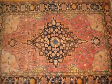 """Antique Persian Rug Hand-Knotted 3'5""""x4'10& #034;"""