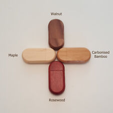 Personalised Wooden USB 3.0 stick pen drive - Laser Engraved