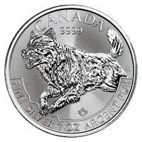 2018 Canada Predator Series - Wolf 1 oz Silver $5 Coin GEM BU SKU53485