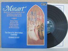 Argo ZRG 924 Mozart Mass in C K.258/Vespers LP NM (GEORGE GUEST/ST JOHNS/PALMER)