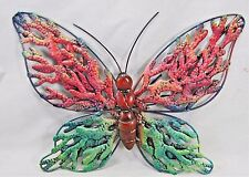 Butterfly Hand Painted Metal Patio & Garden Wall Decor
