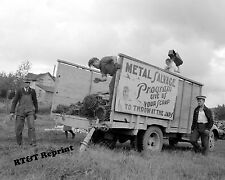 Photograph Vintage WWII Maine War Effort Salvage Drive Pickup Truck 1941 8x10