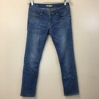 Women's CAbi Jeans Straight Leg Stretch Light Wash Denim Blue Jeans, Size 2, EUC