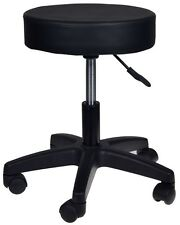 Adjustable Black Tattoo Salon Stool Hydraulic Rolling Chair Facial Massage Spa