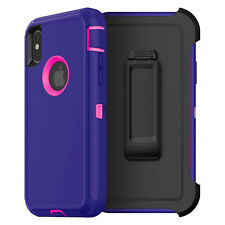 For iPhone XS XR MAX X 8 7 6S Plus 6 Case Cover {Clip fits Otterbox Defender}