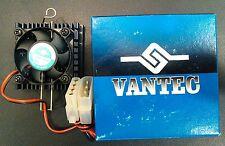 New VANTEC CPU COOLER BALL BEARING FAN black 53x53x25.3 mm computer Heat sink