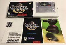 Casper (Super Nintendo SNES) Complete CIB Very Rare Clean