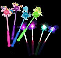 12 Light Up Unicorn Dinosaur Sticks Wands Flashing LED Toy T-Rex Glow Pony Lot